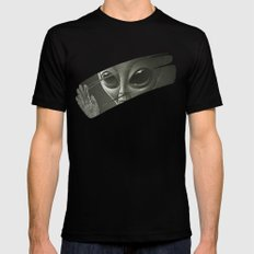 Alien Black LARGE Mens Fitted Tee