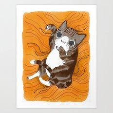 Reclining Kitten Art Print