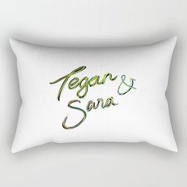 Tegan and Sara handwriting Rectangular Pillow