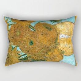 Vincent van Gogh - Still Life Vase with Twelve Sunflowers Rectangular Pillow