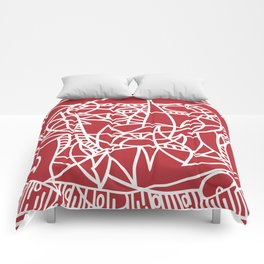 Bushel of Crabs (RED) Comforters