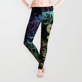 Yin Yang Bamboo Psychedelic Leggings