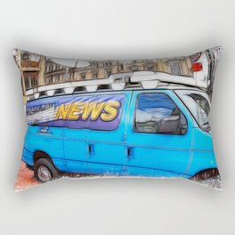 News Hound Rectangular Pillow