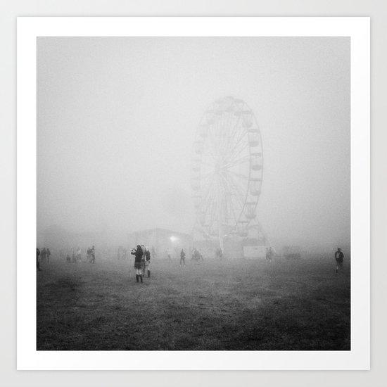 Hazy Ferris Wheel Art Print