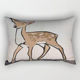 Digital Pop Art Modern Deer Rectangular Pillow