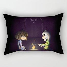 Frisk and Asriel Rectangular Pillow