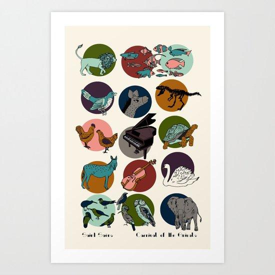 Carnival of the Animals - Saint-Saens Art Print
