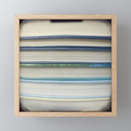 Book stripes - blue Framed Mini Art Print