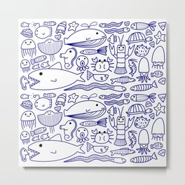 Lines Under the Sea Metal Print