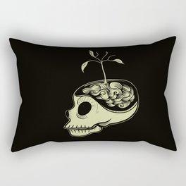 Cute Skulls Think Green Rectangular Pillow