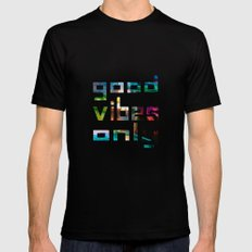 good vibes only // Coachella Black MEDIUM Mens Fitted Tee