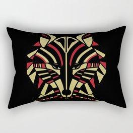 Coyote Trickster Tribal Art Totem Rectangular Pillow