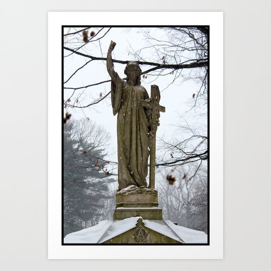 M'Lady in the Snow Art Print
