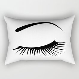 Closed Eyelashes Left Eye Rectangular Pillow
