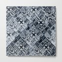 Simply Tribal Tiles in Indigo Blue on Lunar Gray by followmeinstead