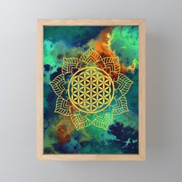 Flower Of Life (Batik 12) Framed Mini Art Print