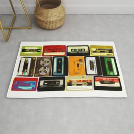 Retro Music Cassette Tapes - In Color Rug