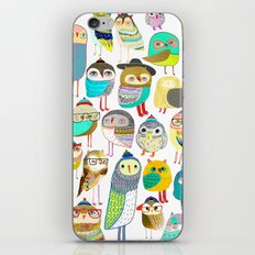 Owls. owl illustration, owl art, owl decor, pattern, art, design, animal, nature, kids, children, iPhone & iPod Skin