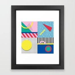 Memphis Party Framed Art Print