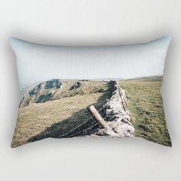 Open field at Winnats Pass Rectangular Pillow