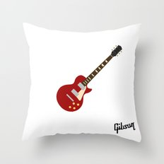 Gibson Les Paul Red Throw Pillow