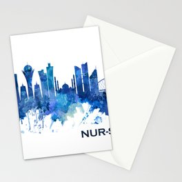 Nur-Sultan Kazakhstan Skyline Blue Stationery Cards