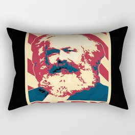 Karl Marx Retro Propaganda Rectangular Pillow