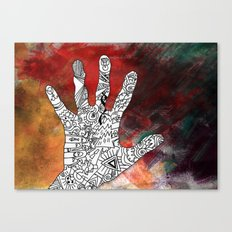 Touch Reality Canvas Print
