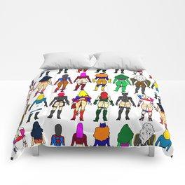 Superhero Butts - Girls Superheroine Butts Comforters