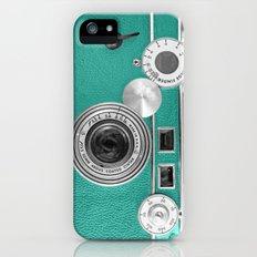 Teal retro vintage phone Slim Case iPhone (5, 5s)