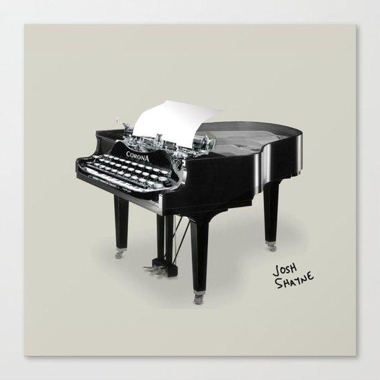 Piano/Typewriter Canvas Print