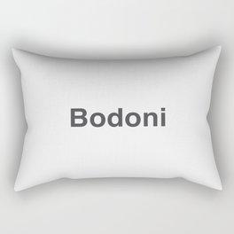Designer Cringe Fest (Bodoni) Rectangular Pillow