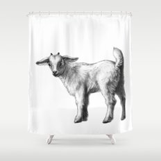 Goat baby G147 Shower Curtain