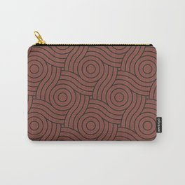 Circle Swirl Pattern Dark Rich Red, Inspired By Dunn Edwards Spice of Life DET439 Carry-All Pouch