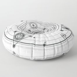 Sacred geometry and geometric alchemy design Floor Pillow
