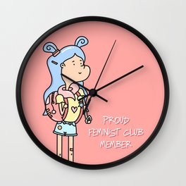 GUMMY GIRL - PROUD FEMINIST Wall Clock