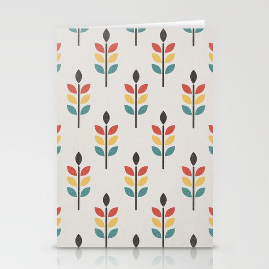 Leaf Pattern Stationery Cards