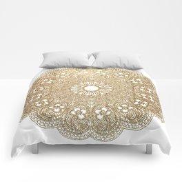 Golden Doily Comforters