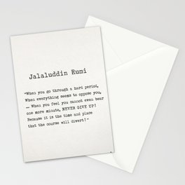 Jalaluddin Rumi quote Stationery Cards