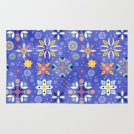 Christmas snowflakes pattern Rug