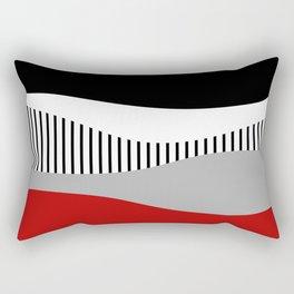 Colorful waves design 2 Rectangular Pillow