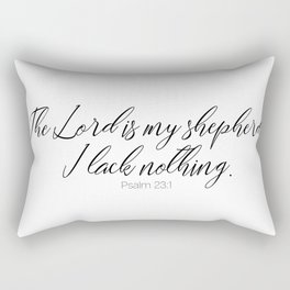 The Lord is my Shepherd #psalm #minimalist Rectangular Pillow