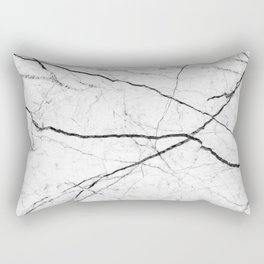White marble abstract texture pattern Rectangular Pillow