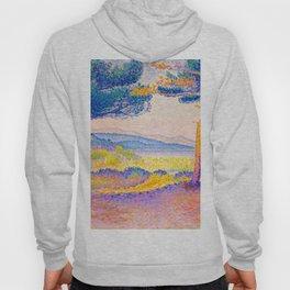 Henri-Edmond Cross Neo-Impressionism Pointillism Pines Along the Shore Oil Painting Hoody
