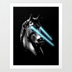 Space Age Horse Art Print