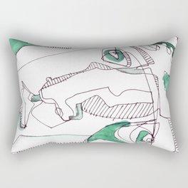 Troubled Rectangular Pillow