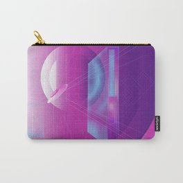 Geometric Abstract Minimal Oval Retro Perspective Carry-All Pouch