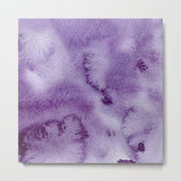 Ultra violet lilac modern hand painted watercolor paint Metal Print