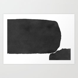 Minimal Black and White Abstract 02 Art Print