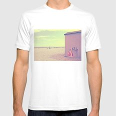 A Nice Summer Swim White MEDIUM Mens Fitted Tee